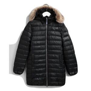 GANT Teen Girls Long Faux Fur Puffer Jacket