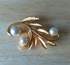 Pearl (Imitation) Gold Plated Vintage Costume Jewellery