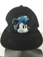 Disney Parks Black Baseball Cap Mohawk Mean Mad Mickey Mouse Embroidered Hat