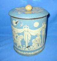 Vintage Old Collectible BRITANNIA BISCUITS Ad Round Tin Box Litho ADV ESH India