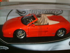 1:18 FERRARI F355 SPIDER IN RED, MATTEL HOT WHEELS.