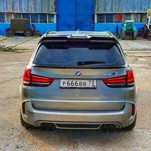Spoiler Rear Roof Spoiler Wing for BMW X5 F15 F85 2015-2018 Fiberglass Unpainted