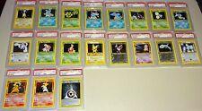 Pokemon 2000  Neo Genesis Lugia Typlosion Pichu  Holo 20 Card Set Psa 9