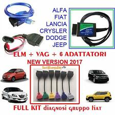 KIT CAVI DIAGNOSI COMPLETA AUTO PER FIAT ALFA LANCIA FORD JEEP NEW VERSION 2017