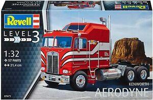 Revell Kenworth Aerodyne truck 1:32 scale plastic model kit