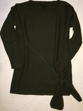 J Crew Sweater XS h1462 Heather Olive Green Tie Side Tunic NWoT