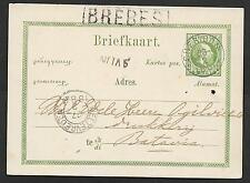 Netherlands Indies covers 1880 Pc Brebes / Cheribon to Batavia