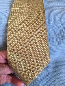 Canali tie, gold check, 3.75 x 59 inches