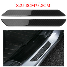 2PCS Real Carbon Fiber Car Door Sill Scuff Plate Cover Panel Guard Protector US