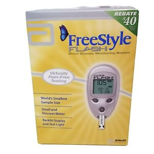 Freestyle Flash Blood Glucose Monitoring System Meter Diabetes Abbott NEW