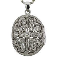 Antique Diamond Locket With Heart Design
