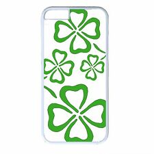 For iPhone 4s 5s 5c 6 6s Plus White Case Cover St.Patrick's Day Irish Clover