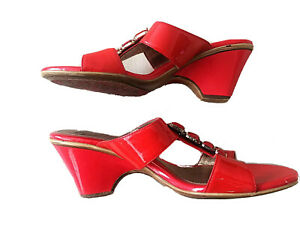 Sofft  Soft, Comfortable Sandals , Hills, Red, size 9 1/2