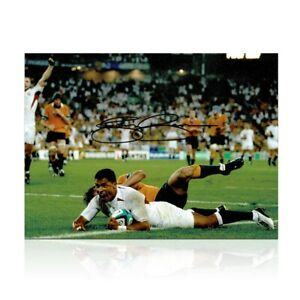 Jason Robinson Signed England Photo: 2003 Rugby World Cup Winner