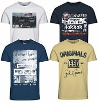 Jack & Jones Originals T-shirt Mens Crew Neck HIT 2 Logo Print Cotton Tee