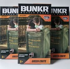 """3 Bunkr Inflatable Battle Zone Green Crates Water Base System Cover 22x25x28"""""""