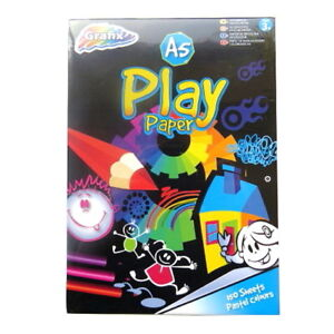 """A5 Play Paper - 7 Different Pastel Colours - 150 Sheets per Pack - 8.3"""" x 5.8"""""""