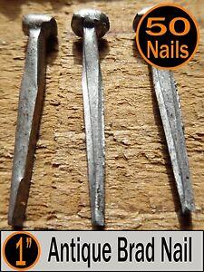 "(50) 1"" - ANTIQUE BRAD NAIL  -  Vintage-Rustic 1"" small Brad nails"