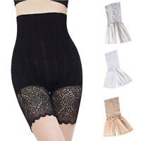 Women Lady High Waist Slim Lace Underwear Leggings Shorts Safety Trousers Pants