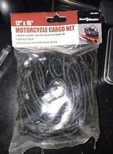 Motorcycle cargo net for helmet