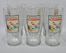 """GUINNESS BIERE 6 Verres 50 cl pinte """"MY GOODNESS MY GUINNESS"""" +6 sous-bocks NEUF"""