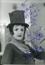 Autographe Dédicace ORIGINAL de du Mime MARCEL MARCEAU sur Photo HARCOURT