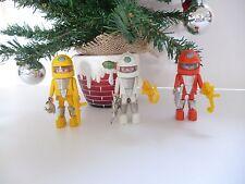 👿 Jouet Trois Personnages Playmobil De L'espace Playmospace Vintage