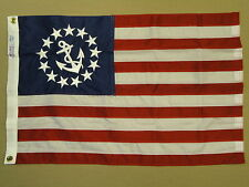 """U.S. United States Yacht Ensign Indoor Outdoor Sewn Nylon Flag Grommet 24"""" X 36"""""""