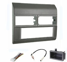 Dash Install Kit Car Stereo Radio Mounting Panel Bezel Trim Mount Gray Pkg
