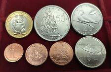 B-D-M Islas Cook Set 7 monedas 1 2 5 10 20 50 Cents 1 Dollar 2010 SC UNC