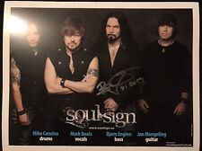 Soul Sign 8x10 Photo Signed (Yngwie, Quiet Riot, Dio D)