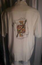 """EAGLE DRY GOODS 100% SILK Tampa Hard Rock Cafe Casino Camp Shirt BIG MEN XL 52"""""""
