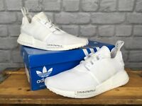 ADIDAS MENS UK 8 EU 42 WHITE NMD JAPAN BOOST R1 PRIMEKNIT TRAINERS