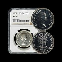 1959 South Africa 2-1/2 Shillings (Silver) - NGC PF 66 (Gem+ Proof)