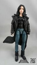 XS Size Black Leather Trench Coat for Marvel Legends Jessica Jones (No Figure)