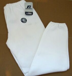 NWD Russell Men's Dri-Power Sweatpants  no pockets  White  Sm & XL  Small Stains