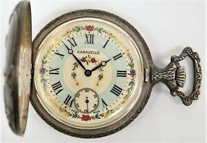 Caravelle by Bulova Pocket Watch 7941-1 Base Metal 17 Jewel Pocket Watch C0456