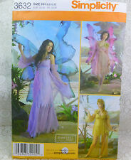 Simplicity 3632 3 Adult Fairy Costume Pattern 6-12 NEW