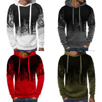 Hooded Warm Sport Mens Tops Jacket Coat Pullover Sweatshirt Hoodie Fleece Casual