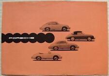 Porsche Tipo 356A COCHE FOLLETO de ventas Feb 1958 #W27 Coupe Speedster Convertible