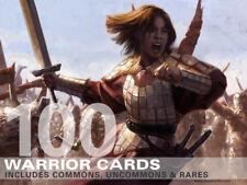 100X Warrior Cards (Includes Rares!) MTG Magic -100 Card Lot Collection Deck-