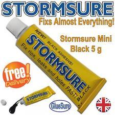 STORMSURE BLACK 5g Mini FLEXIBLE REPAIR ADHESIVE GLUE  FIX RIPS & HOLES BOOTS