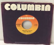 """Crystal Gayle Room For One More / Half The Way 45 rpm 7"""" Record Columbia 1979 VG"""