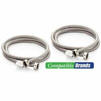 Washing machine hoses burst proof 6 foot stainless steel braided  2 pack