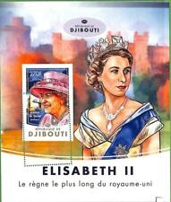 A0451 - DJIBOUTI - ERROR MISSPERF stamp SHEET - 2016 Royalty  QUEEN ELISABETH II