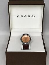 Ladies Watch RoseGold With Leather Strap By: Cross