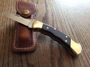 Buck 112 Taschenmesser mit Ledertasche