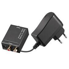 Audio Koaxial optisch digital Adapter Wandler IN Opto Coaxial OUT 2 Cinch Chinch