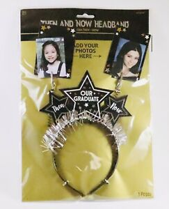 Graduation Then and Now Headband Customizable Celebrate Photo Prop Party Memory