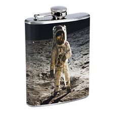 Flask Moon Landing 01R 8oz Stainless Steel Hip Drinking Whiskey